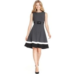 Calvin Klein Charcoal Gray Dress